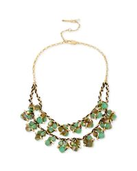 Kenneth Cole - Metallic New York Goldtone Shaky Bead Cluster Tworow Necklace - Lyst
