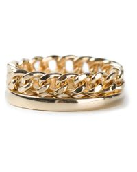 Chloé - Metallic Chain Ring - Lyst