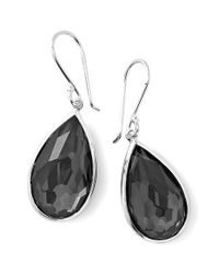 Ippolita | Black 'rock Candy' Teardrop Earrings - Hematite | Lyst