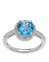 Lord & Taylor | Sterling Silver Blue And White Topaz Ring | Lyst