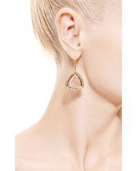 Jade Jagger - Pink Watermelon Tourmaline Earrings with Diamond - Lyst