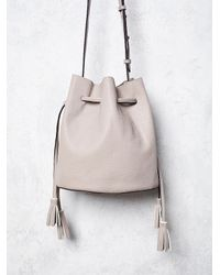 Free People | Natural Bleeker Bucket Bag | Lyst