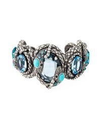 Lanvin - Blue Snake Cuff - Lyst