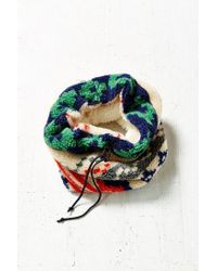 Urban Outfitters - Green Camp Sherpa Funnel Scarf - Lyst