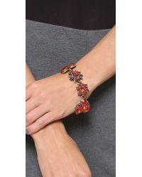 Oscar de la Renta | Red Crystal Stars Bracelet - Persimmon | Lyst