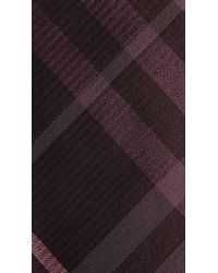 Burberry - Purple Check Silk Tie for Men - Lyst