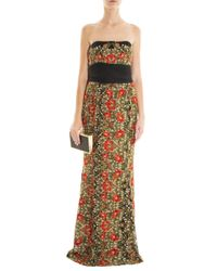 Marchesa - Multicolor Poppy Embroidered Gown - Lyst