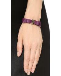 Ferragamo | Purple Bracciali Pell Bracelet - Vin | Lyst