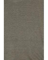 120% Lino - Green V-neck T-shirt - Lyst