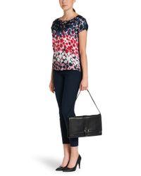 HUGO - Black Leather Handbag: 'blossom' - Lyst