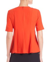 Opening Ceremony - Red Moodie Pleated Top - Lyst