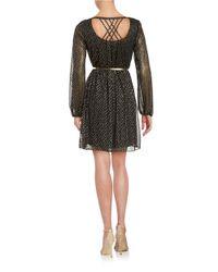 Jessica Simpson | Black Metallic Dotted Dress | Lyst