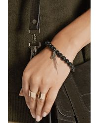 Chan Luu - Black Horn And Diamond Charm Bracelet - Lyst