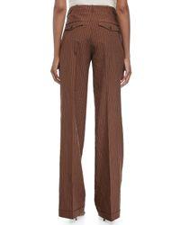 Michael Kors - Brown Cuffed Wide-leg Pants - Lyst