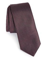 HUGO | Red Woven Silk Tie for Men | Lyst