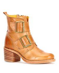 Frye | Brown Double-buckle Booties | Lyst