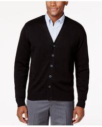 Tricots St Raphael   Black Button-front V-neck Cardigan for Men   Lyst