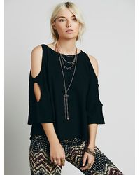 Free People - Black We The Free Womens We The Free Lily Tee - Lyst