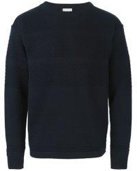 S.N.S Herning - Blue 'fisherman' Sweater for Men - Lyst