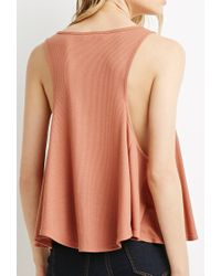 Forever 21 - Pink Ribbed Trapeze Tank - Lyst