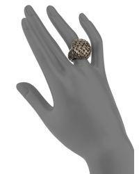 Slane | Metallic Sterling Silver Basketweave Ring | Lyst