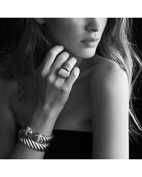 David Yurman | Metallic Waverly Bracelet With Diamonds And Gold | Lyst