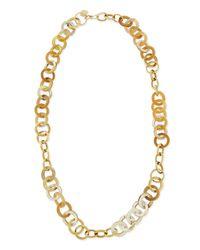 Ashley Pittman - Metallic Mawani Light Horn & Bronze Necklace - Lyst