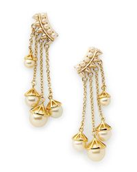 Rebecca Minkoff | Metallic Pearl Satellite Drop Earring | Lyst