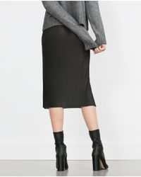 Zara | Gray Accordion Pleat Skirt | Lyst