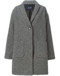 Armani Jeans - Gray Oversized Coat - Lyst