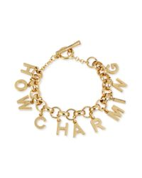Kenneth Cole - Metallic New York Goldtone How Charming Charm Toggle Bracelet - Lyst