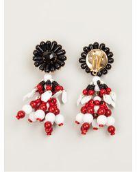 Marni - White Flower Drop Bead Earrings - Lyst