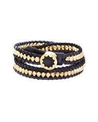 House of Harlow 1960 | Black Karma Beaded Wrap Bracelet | Lyst