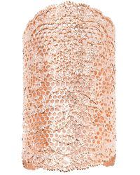Aurelie Bidermann - Pink Lace Cuff - Lyst