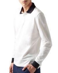 Aquascutum - Gray Plain Polo Polo Shirt for Men - Lyst