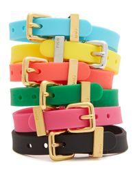 Marc By Marc Jacobs - Red Logo Rubber Bandz Bracelet - Lyst