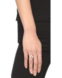 Jacquie Aiche | Metallic Ja Bone Double Horn Ring | Lyst