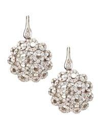 Roberto Coin - 18k White Gold Mauresque Diamond Filigree Drop Earrings - Lyst