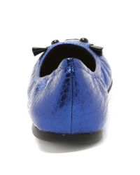 Marc By Marc Jacobs - Blue 'sachetto Mouse' Ballerinas - Lyst