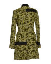 Versace Jeans - Green Coat - Lyst