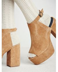 Free People - Brown Chemistry Covered Platfor - Lyst