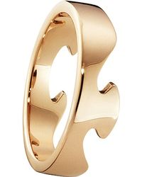Georg Jensen | Metallic Fusion End 18ct Rose-gold Ring | Lyst