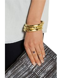 Eddie Borgo - Metallic Circle Prism Gold-plated Bangle - Lyst