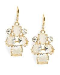 kate spade new york | Metallic Make Me Blush Crystal Drop Earrings | Lyst