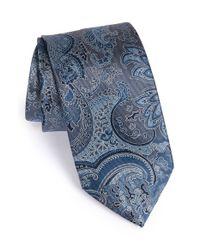 Brioni | Blue Paisley Silk Tie for Men | Lyst