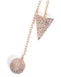 Elise Dray - Diamond & Pink-Gold Muse Earrings - Lyst