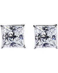 Carat* | Metallic Princess 0.5ct Solitaire Stud Earrings | Lyst