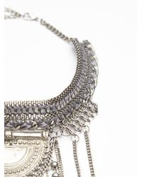 Free People - Metallic Exaggerated Fringe Collar - Lyst
