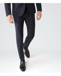Reiss | Blue George T Slim-fit Trousers for Men | Lyst