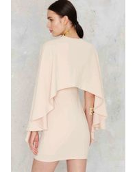 Nasty Gal - Pink Kendra Plunging Cape Dress - Nude - Lyst